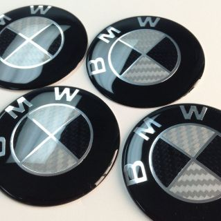 BMW Wheel Center Cap Emblem Decal Badge Hub Rim Sticker M 3Series