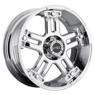 17 inch V Tec Warlord Chrome Wheels Rims 5x135 97 2003 Ford F150
