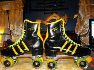 Celebrity Disco Roller Skates Size 11 With Mad Hog Speed Skate Wheels