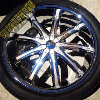 26 inch Wheels Rims Tires Silver DW29 5x115 Chrysler 300 04 05 06 07