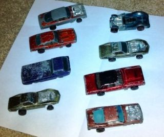 Hot Wheels Redline Lot of 8 Barracuda Mustang T Bird Corvette Camaro