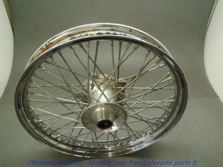 93 Honda VT 600 Shadow VLX Straight Front Wheel Rim Tire 19