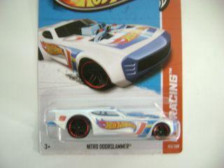 Hot Wheels 2013 White Nitro Doorslammer HW Racing E Case 103 250