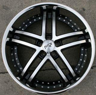 Essence M877 22 Black Rims Wheels Avalon 95 Up 22 x 9 0 5H 35