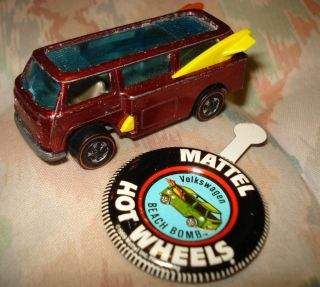Vintage RARE Mattel Hot Wheels Redline 1969 VW Volkswagon Beach Bomb