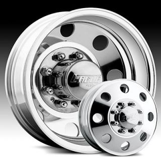 16 x6 Eagle 0589 Polished Dual Wheels Rims 8 Lug Dually