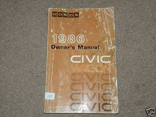 1986 Honda Civic Wagon Owners Manual 103