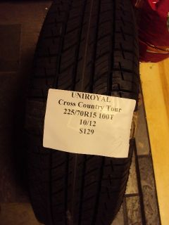 Uniroyal Cross Country Tour 225 70R15 100T Brand New Tire