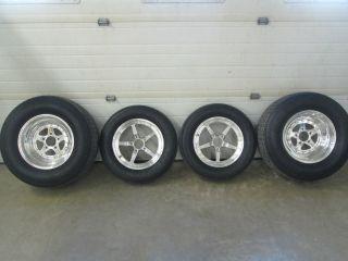 Weld Alumastar Drag Racing Wheels Mickey Thompson Tires