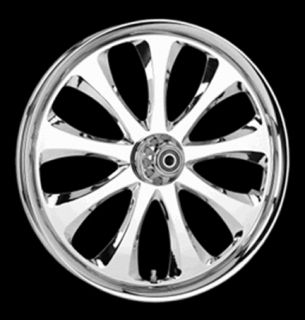 CHROME ENVY BILLET Front Rear WHEELS and ROTOR KIT with