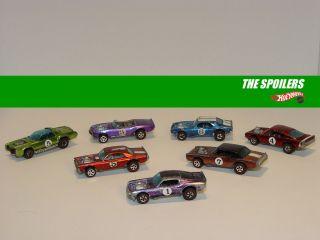 Vintage The Spoilers Set Hot Wheels Redline 7 Cars See Video