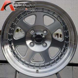 15x8 Chikara RS7 Wheels 4x100mm Rims ET20MM Fits Integra Civic Miata