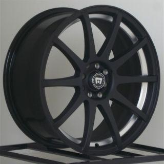 18 Inch Wheels Rims Flat Black Motegi Racing SP10 4 Lug 4x100 4x114 3