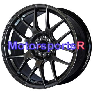 18 XXR 530 Chromium Black Wheels Rims Concave 5x114 3 5x100 04 08
