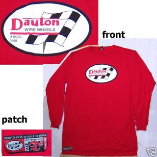 Dayton Wire Wheels Since 1916 Red L s Shirt Large Extra Tall New