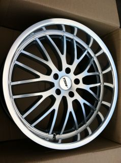 20 Silver Wheels Tires 5x115 114 3 Staggered Nissan 350Z G35 Maxima