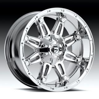 20 x 12 Fuel Hostage Chrome D530 5 6 8 Lug Wheels Rims