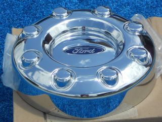 Ford F350 F450 Dually Front Chrome Center Cap 5C34 1A096 SB New