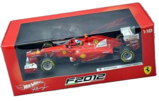 Mattel Hot Wheels 1 18 Ferrari Team F1 F2012 Fernando Alonso Diecast