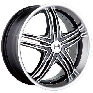 20 inch Mazzi Invasion Black Wheels Rims 5x115 Magnum AWD Challenger