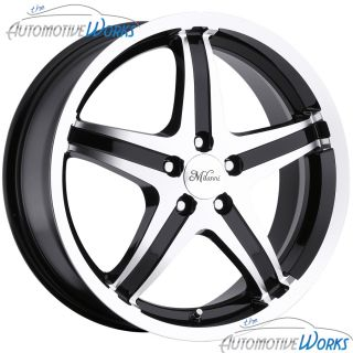 17x7 Milanni Kool Whip 5 5x115 22mm Black Wheels Rims inch 17