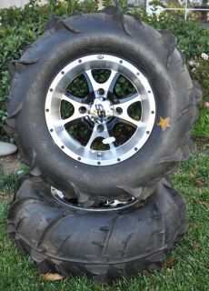 Machined Black SS108 ITP Wheels with ITP Dune Star Sand Tires
