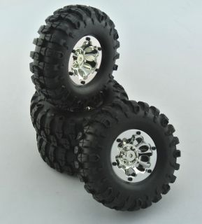 RC Rock Crawler 1 9 Tires and Wheels 108mm Fits Axial SCX10 RC4WD CC01