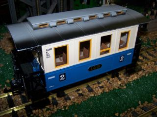 LGB G Scale Coach LGB 3012 LGB Steel Wheels LED Lights