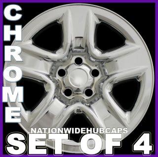 Chrome Wheel Skins Rim Full Hub Covers for 5 Spoke Steel Wheels