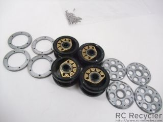 Four RC4WD Rock Crawler Low Boyz 2 2 Weighted Pendulum Beadlock Wheels