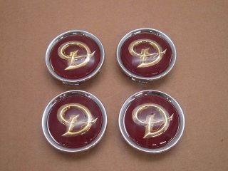 Jaguar Red Daimler Center Cap Wheel Badge Set of 4 MNA6249DB