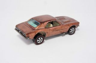 Hot Wheels Redline Copper Camaro Excellent Super Clean