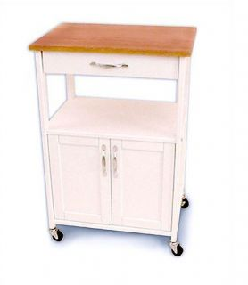 Oak hills microwave cart in oak oak hills microwave cabinet - Kitchen cabinets trolleys pictures ...