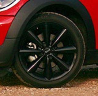 Mini Cooper 17 R121 Black Conical Spoke Rim Wheel with Hubcap New