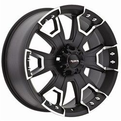 22 inch Ballistic Havoc Black Wheels Rims 5x5 5x127