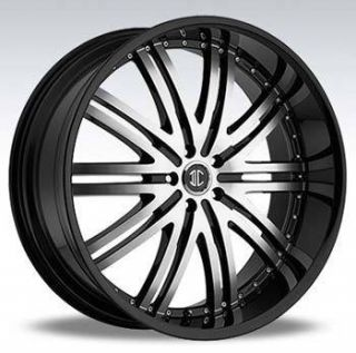 2CRAVE NO11 22x9 5 5x127 ET15 Black Machined Wheels 4 New Rims