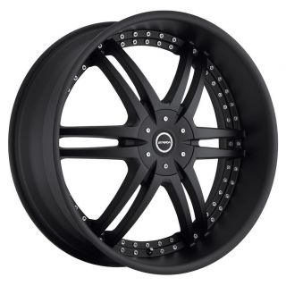 Denaro Stealth Black Wheels Rims 5x115 Dodge Challenger Rwd