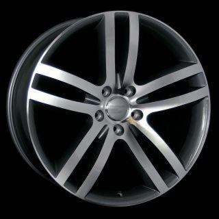 22 Q7 Style Wheels Rims 5x130 Dark Grey Polish for Audi Q7 Cayenne