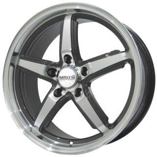 17x7 5 Maxxim Allegro Gray Wheel Rim s 5x112 5 112 17 7 5