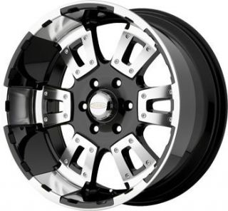 17 inch DIAMO Karat Black Wheels Rims 6x135 Ford F150