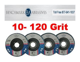 "10 4 5""x7 8 Zirconia Flap Disc Grinding Wheels 120 Grit"