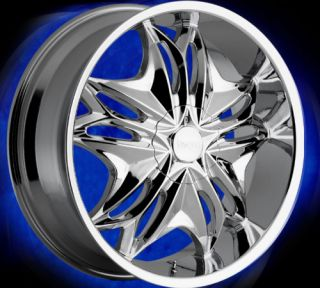 22 inch 6 lug Rims 22 Wheels Chevy 1500 Tahoe Nissan 6X5 5 Viscera 728