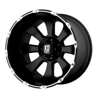 20 inch KMC XD Armour Black Wheels Rims 5x135 Ford F150