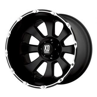 20 inch KMC XD Armour Black Wheels Rims 5x135 Ford F150