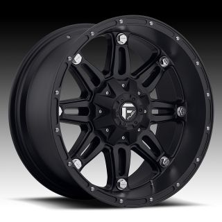 22 inch 22x9 5 Fuel Hostage Black Wheel Rim 6x135 Lifted F150