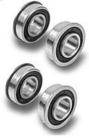Precision SEALED Set of 4 Flanged Ball Bearings Hardened 5 8 ID 1 3 8