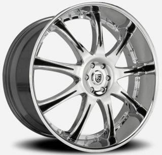 26 inch 26x10 Lexani LX 9 Chrome Wheel Rim 6x135 F150 Expedition