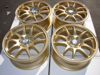 Gold Effect Wheels Cabrio Golf Cobalt Lancer Prelude Swift Rims