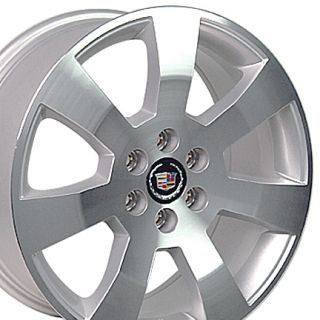 18 Rims Cadillac SRX Wheel 4607 Machined Silver 18x8