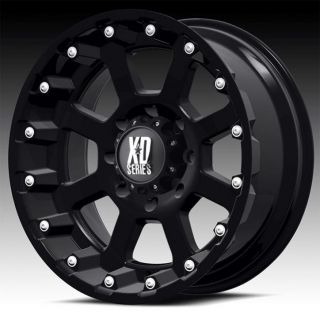 17 inch 17x9 KMC XD Black Wheels Rims 6x5 5 6x139 7 Armada Frontier